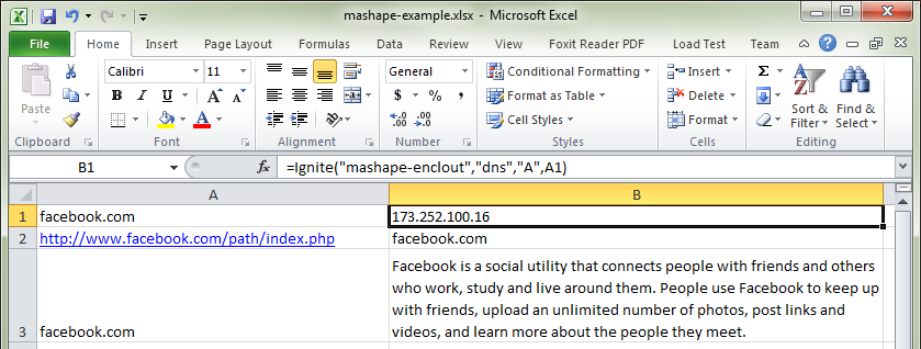 Create Source File - Mashape example - EnClout